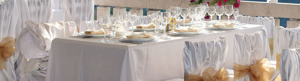 Our custom made table cloths, serviettes and chair covers are made to suit any budget.
