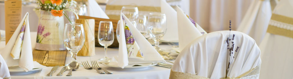 We guarantee top quality event linens from serviettes to chair covers and everything in between.