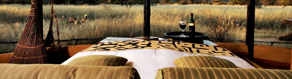 Our bed runners and scatter cushions add a touch of class to any game lodge.